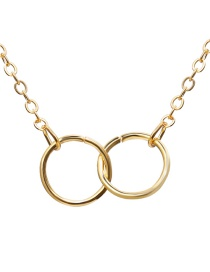 Fashion Gold Alloy Double Ring Necklace