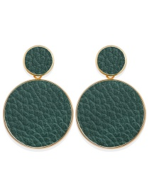 Fashion Green Serpentine Sequin Round Earrings