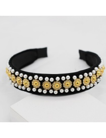 Fashion Yellow Diamond-studded Headband