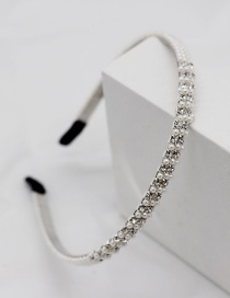 Fashion Double Row Silver Diamond-cut Pearl Headband