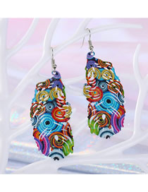 Fashion Color Peacock Feather Earrings