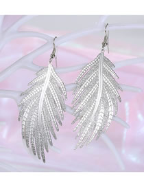 Fashion Silver Leaf Earrings