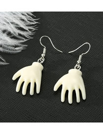 Fashion Hand Resin Face Earrings