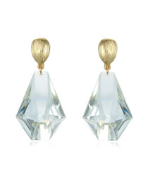 Fashion Transparent White Transparent Geometric Resin Stud Earrings