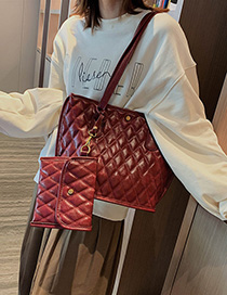 Fashion Red Wine One-shoulder Portable Carrier