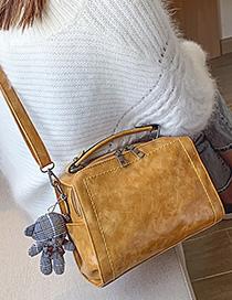 Fashion Yellow Bear Pendant Hand Bag Shoulder Bag