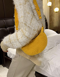 Fashion Yellow Plush Messenger Bag