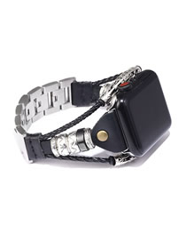 Fashion Black Stainless Steel Strap (for Applewatch3/4)