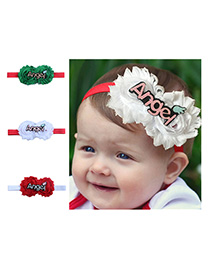 Fashion 3 Colors Mixed Cartoon Patch Floral Child Hair Band