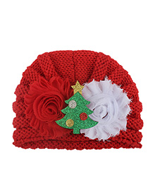 Fashion Red Bonding Santa Claus Card Children's Sweater Hat