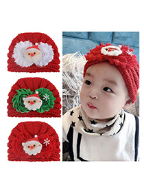 Fashion 3-color Mixed Shot Multiple Children's Wool Cap