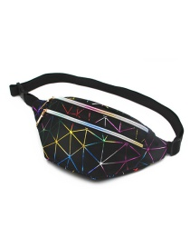 Fashion Black Diamond Laser Multilayer Chest Bag