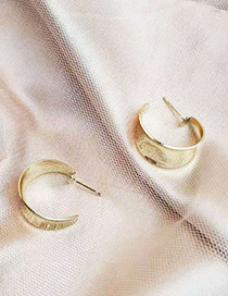 Fashion Gold S925 Silver Needle Smooth Earrings
