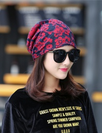 Fashion Red Lace Flower Double-layer Cap