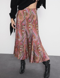 Fashion Color Printed Long Skirt