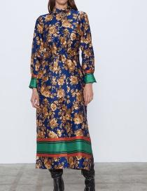Fashion Color Printed Shirt Dress