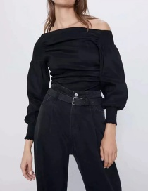 Fashion Black Asymmetrical Top