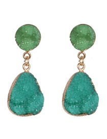 Fashion Green Water Drop Earrings