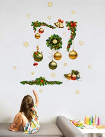 Vinilo Decorativo Bola De Navidad Reloj Corona
