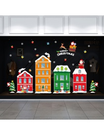 Fashion Color Christmas Snowman Train Tree Snowflake Wall Sticker