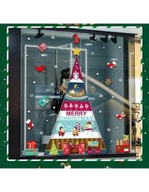 Vinilo Decorativo Doble Árbol De Navidad