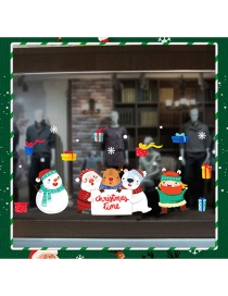Fashion Color Cartoon Christmas Wall Sticker