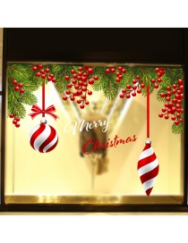Fashion Red Christmas Hanging Ball Grape Wall Sticker