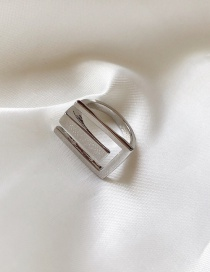 Fashion Silver Geometric Metal Ring (finely Adjustable)