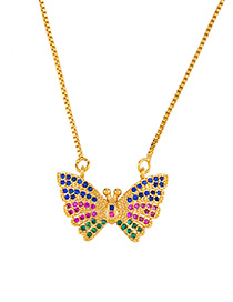 Fashion Butterfly Love Letter Butterfly Set With Diamond Necklace