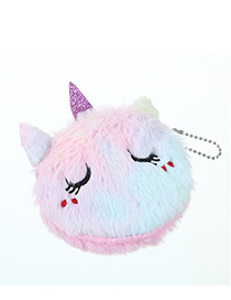 Fashion Smiling Pink Cartoon Cat Plush Purse