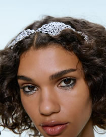 Fashion Silver Alloy Silver Headband