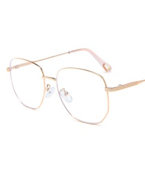 Fashion Rose Gold Frame Blu-ray Flat Mirror