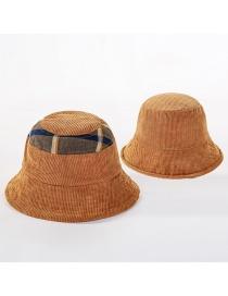 Fashion Khaki Double-sided Wear Fishing Color Matching Basin Cap