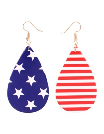 Fashion Stars + Stripes Resin Pentagram Earrings