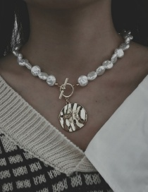 Fashion Golden Pearl Alloy Pearl Flower Necklace