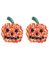 Fashion Gold Alloy Rhinestone Pumpkin Earrings