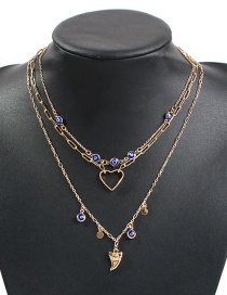 Fashion Gold Alloy Resin Multilayer Necklace