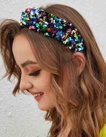 Fashion Color Velvet Sequin Headband