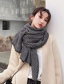 Fashion Black Houndstooth Scarf