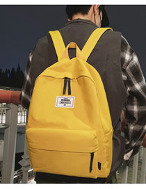 Fashion Yellow Backpack
