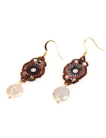 Fashion Color Rice Pearl Pearl Earrings