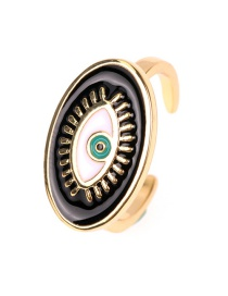 Fashion Black Eye Drip Opening Ring