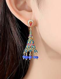 Fashion 18k Zircon Earrings