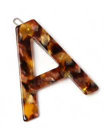 Fashion A Coffee Color Leopard Letter Hairpin