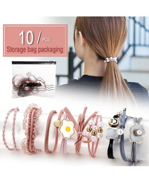 Fashion Bird Bag 10 Pieces Cartoon Hair Ring 10 Piece Set