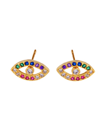 Fashion Erq18 Eyes Micro-inlaid Zirconia Earrings