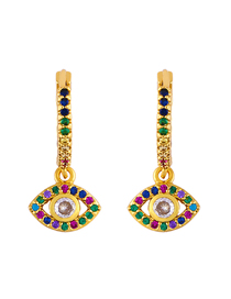 Fashion Eye Micro-inlaid Zircon Rainbow Earrings