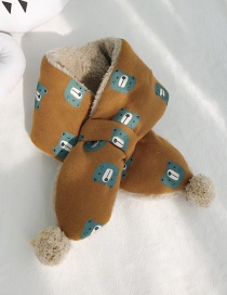 Fashion Bear Head Camel Cartoon Windproof Children's Scarf