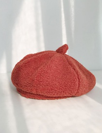 Fashion Lamb Hairy Beret Rust Red Cashmere Beret