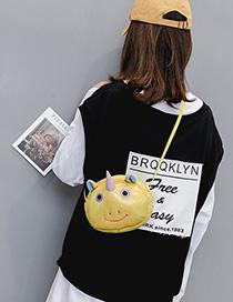 Fashion Yellow Cartoon Single Shoulder Diagonal Children's Canvas Bag